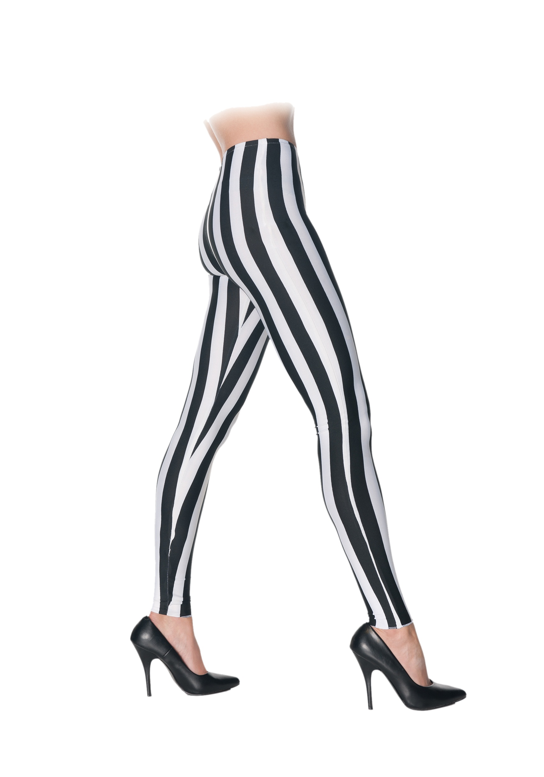 Black & White Striped Leggings