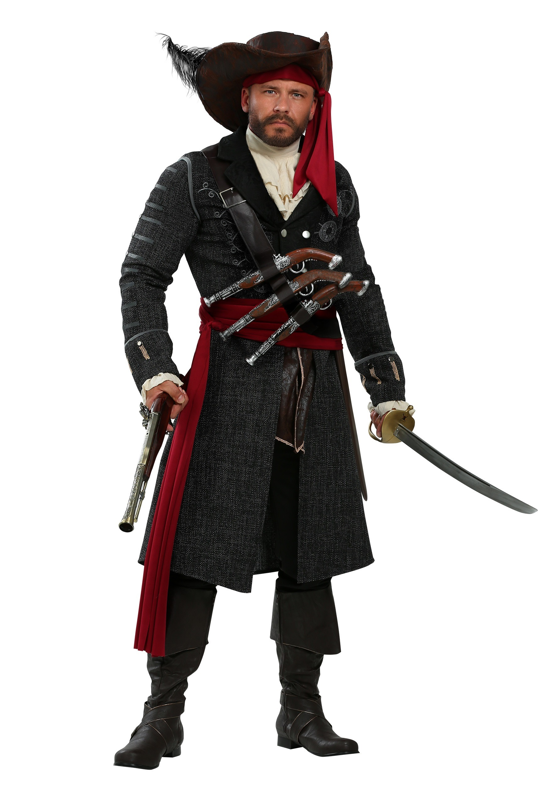 Blackbeard Plus Size Men's Costume