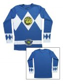 Blue Power Rangers Long Sleeve Costume Shirt