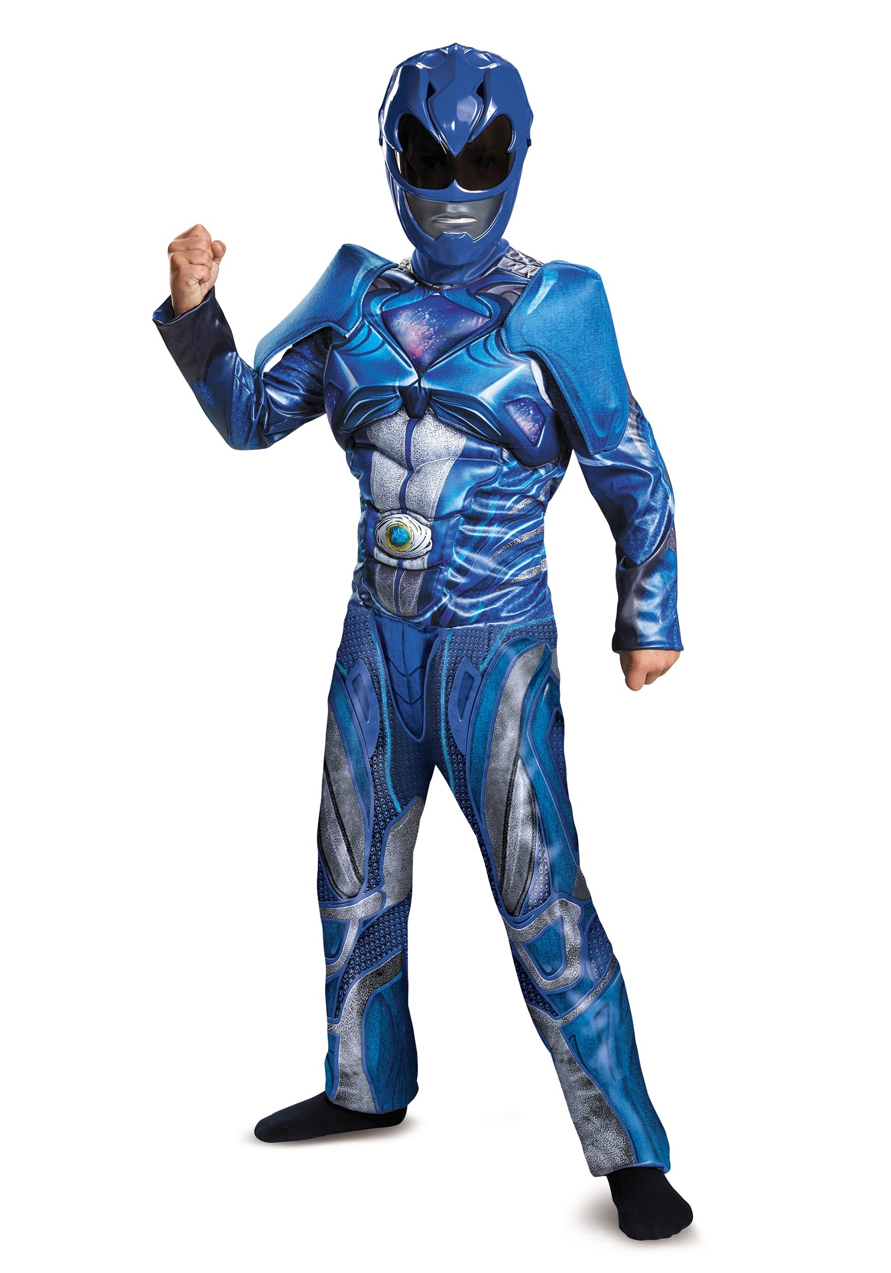 Boys Blue Ranger Movie Classic Muscle Costume