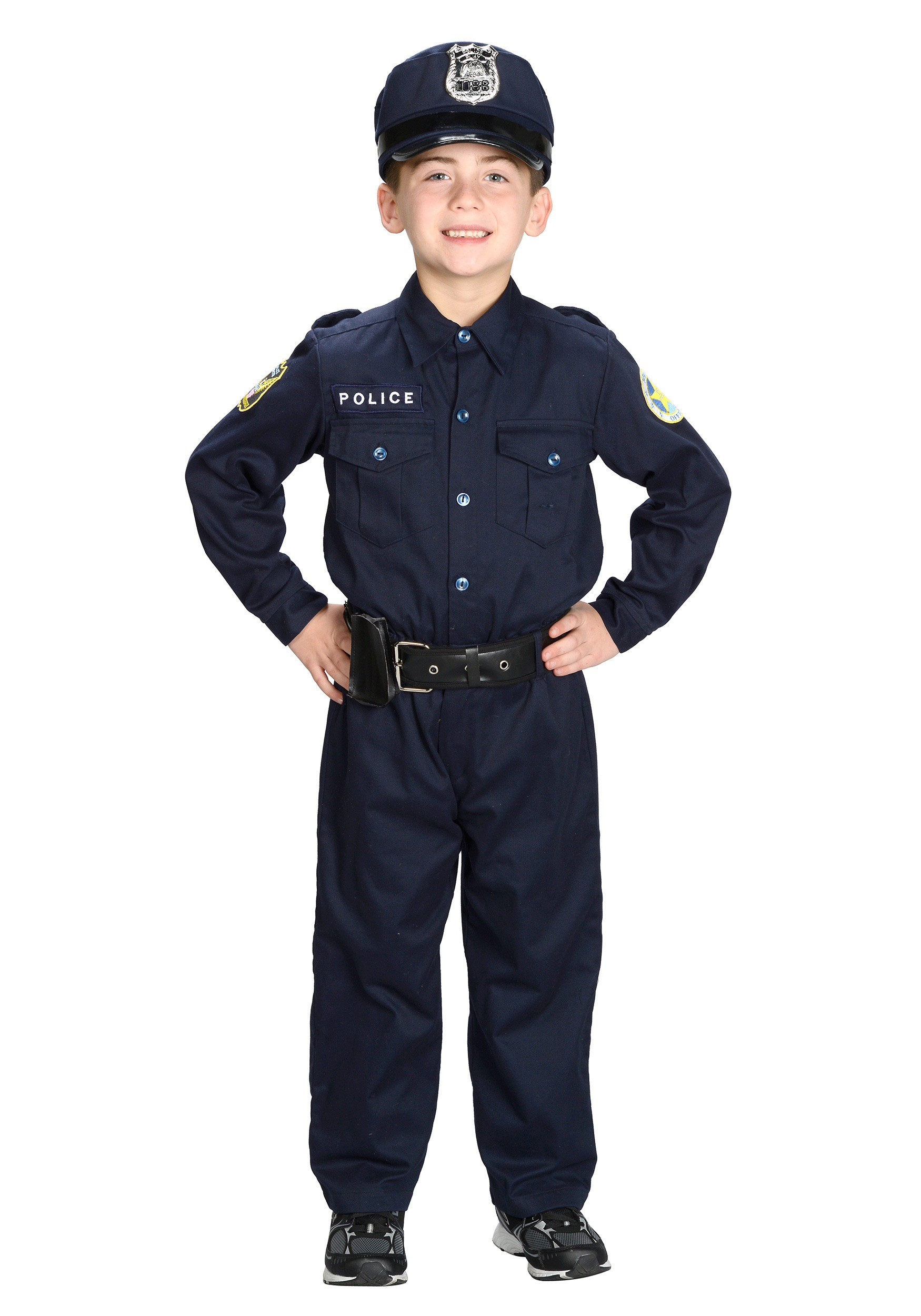 Boys Deluxe Police Officer Costume