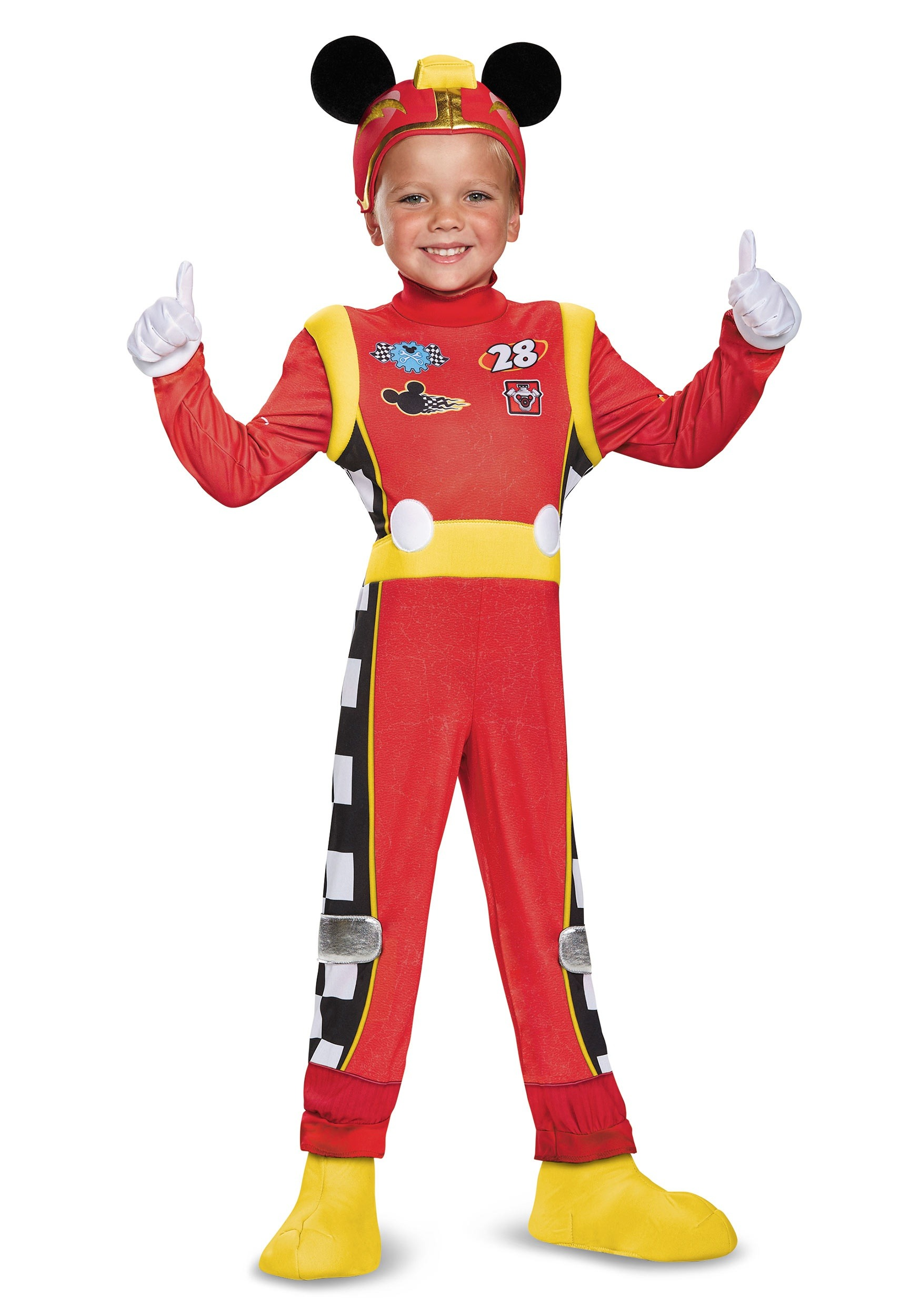 Boys Mickey Roadster Deluxe Toddler Costume