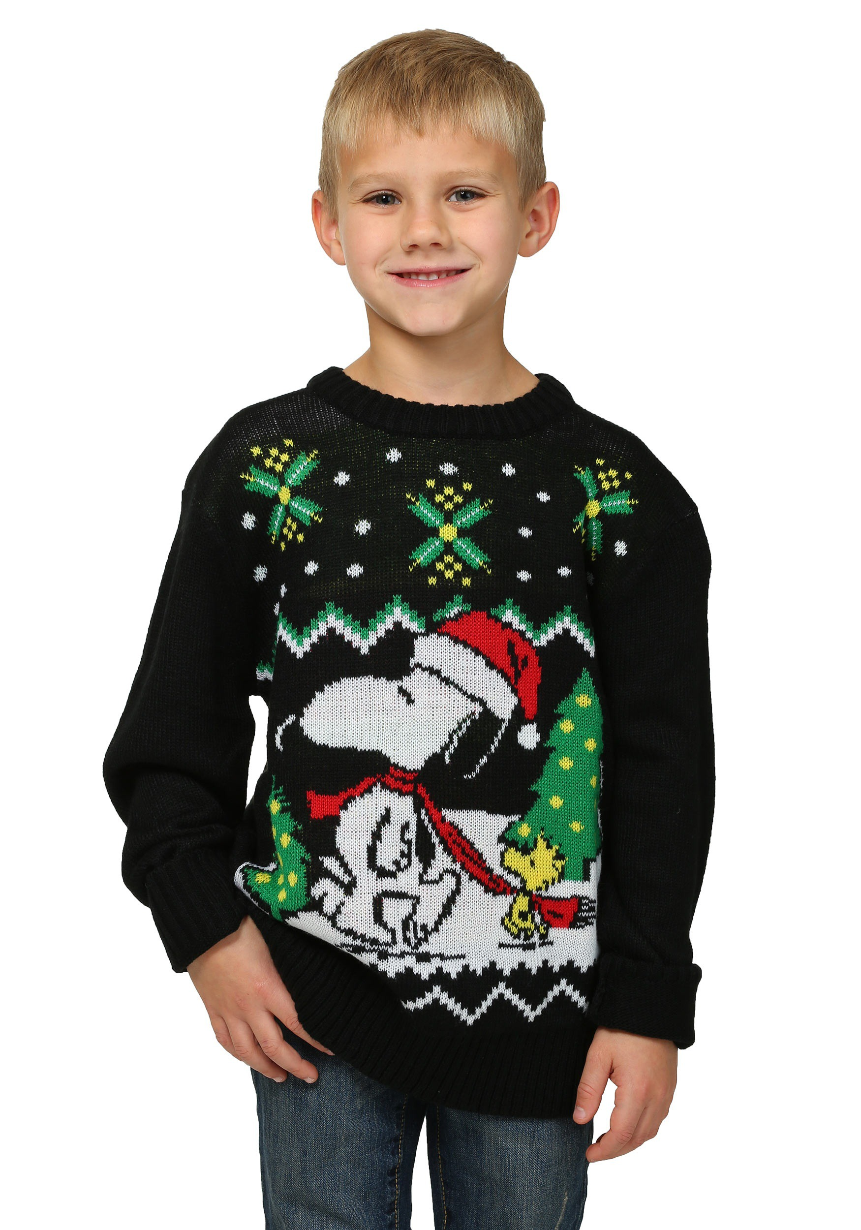 Boys Peanuts Snoopy & Woodstock Ugly Christmas Sweater