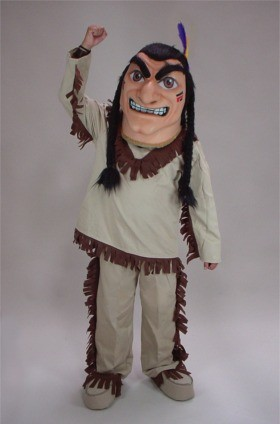 Brave Indian Mascot Costume