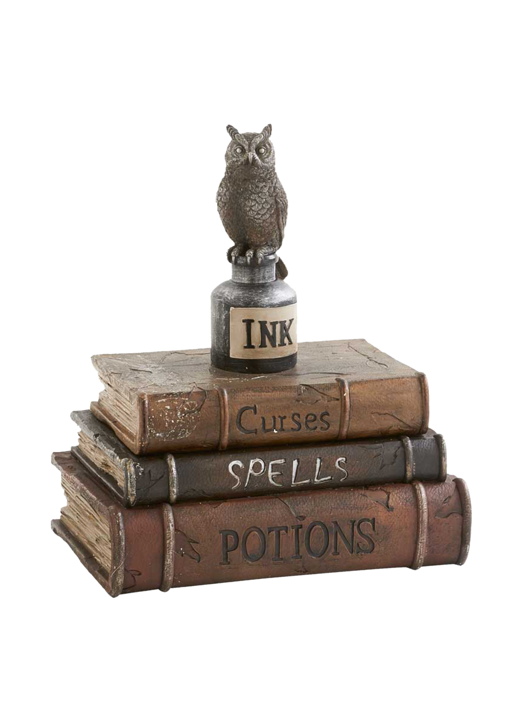 Brown Book Box w/ Owl