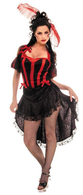 Can Can Black Red Costume