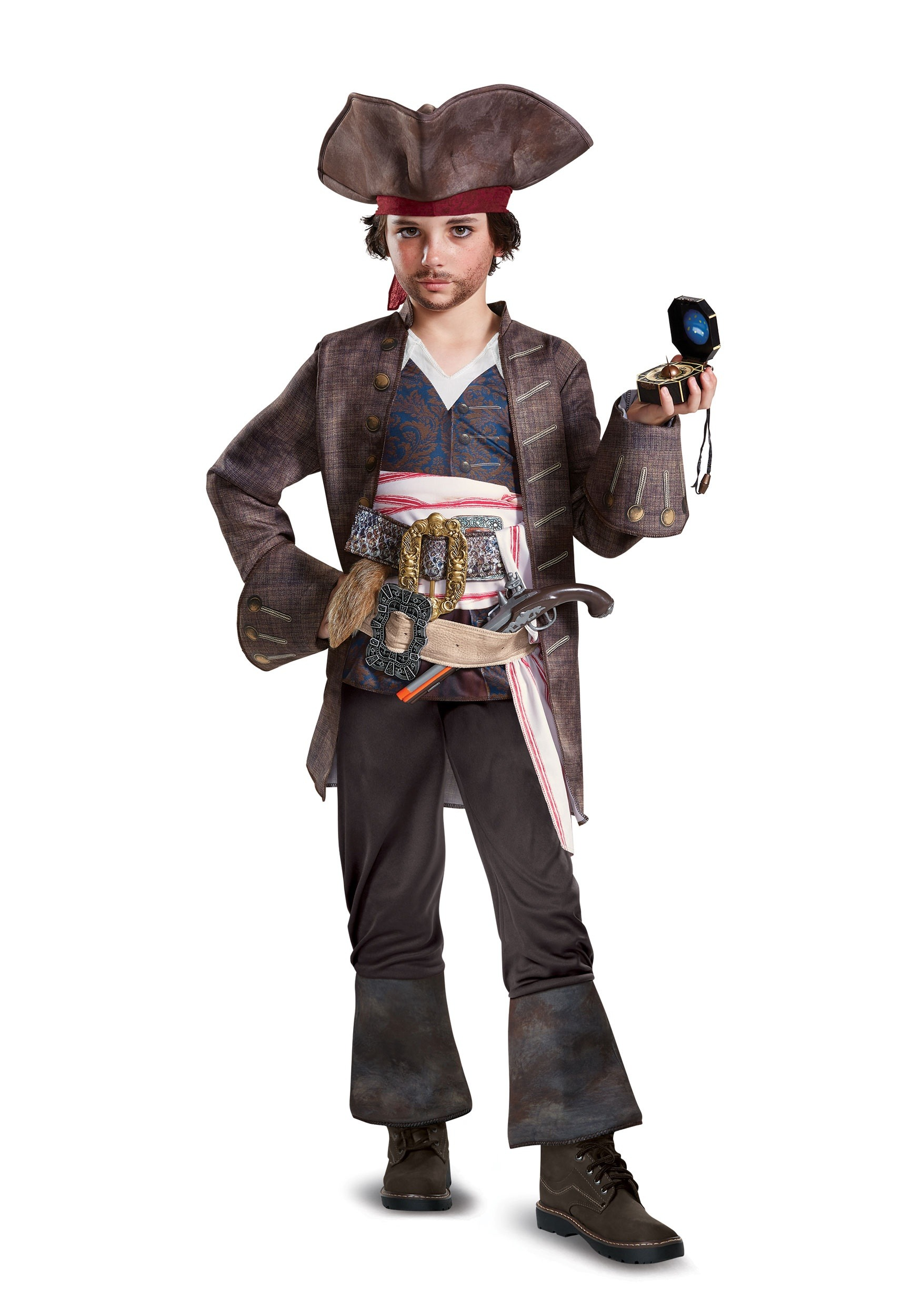 Captain Jack Sparrow Boys Deluxe Costume