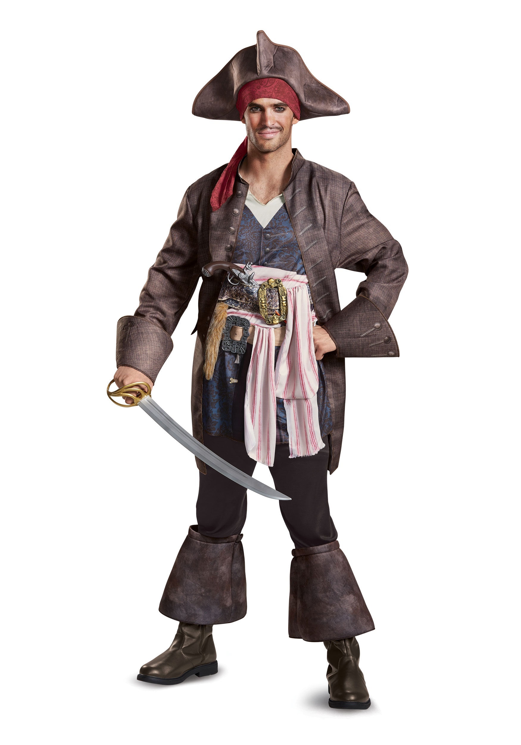 Captain Jack Sparrow Deluxe Men's Costume