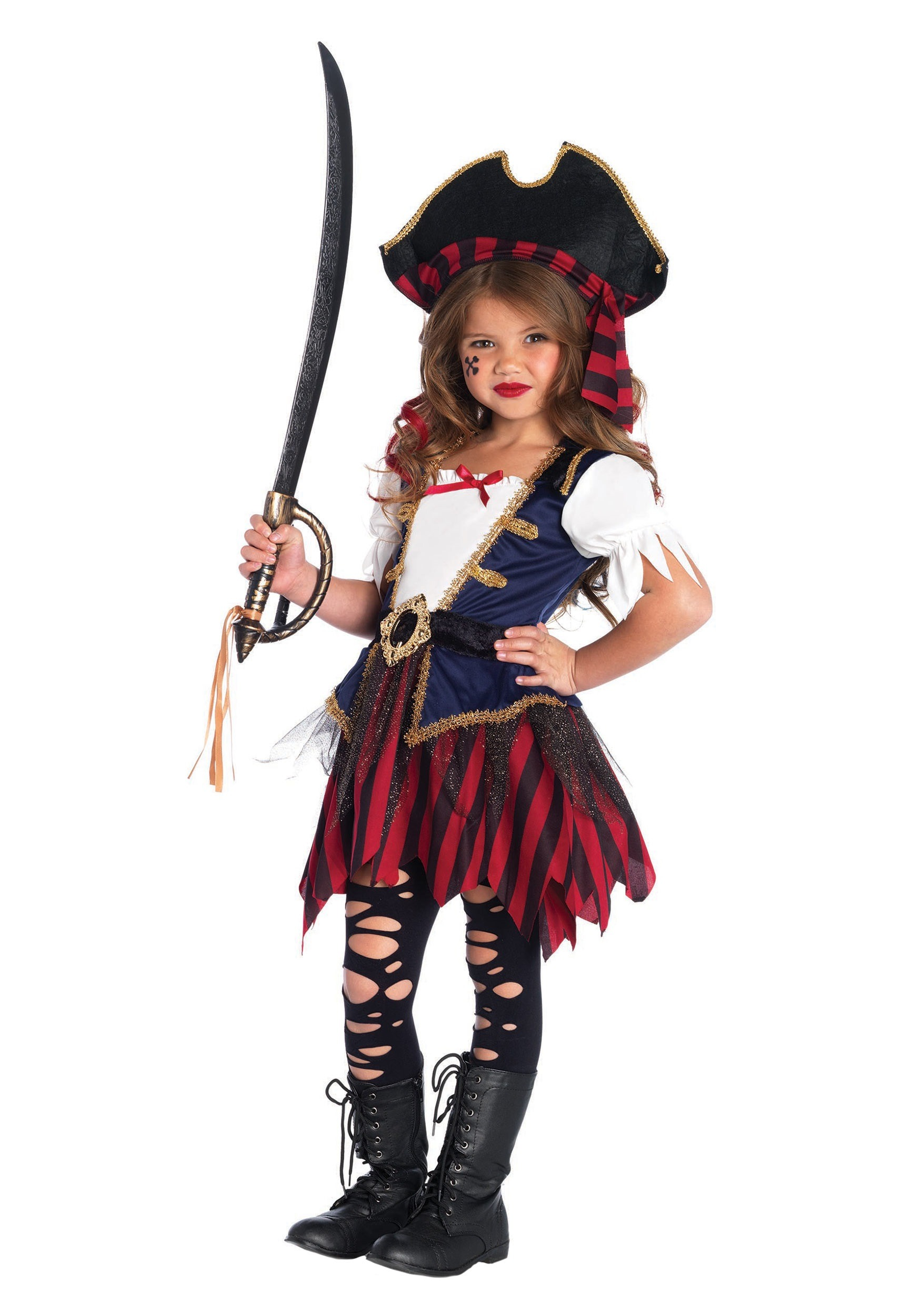 Caribbean Pirate Girls Costume