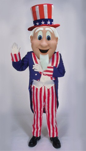 Cartoon Uncle Sam Mascot Costume
