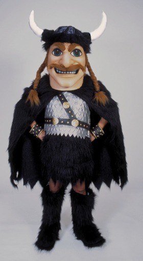 Cartoon Viking Mascot Costume