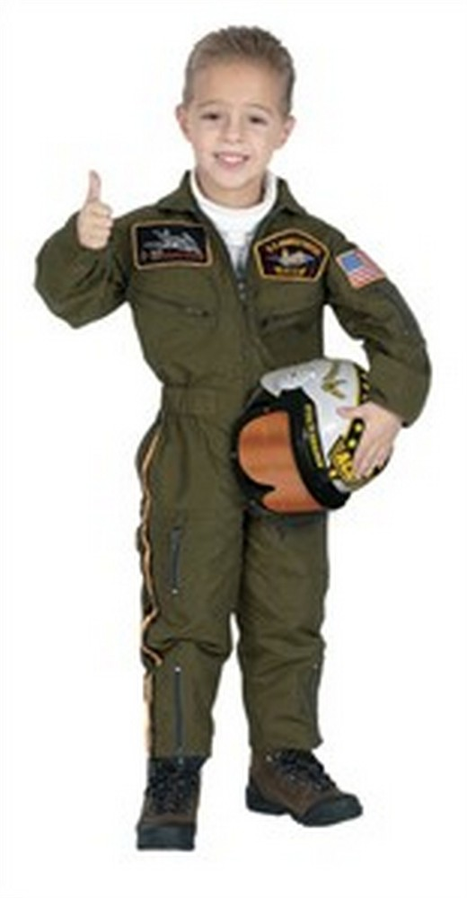 Child Air Force Pilot Costume Suit