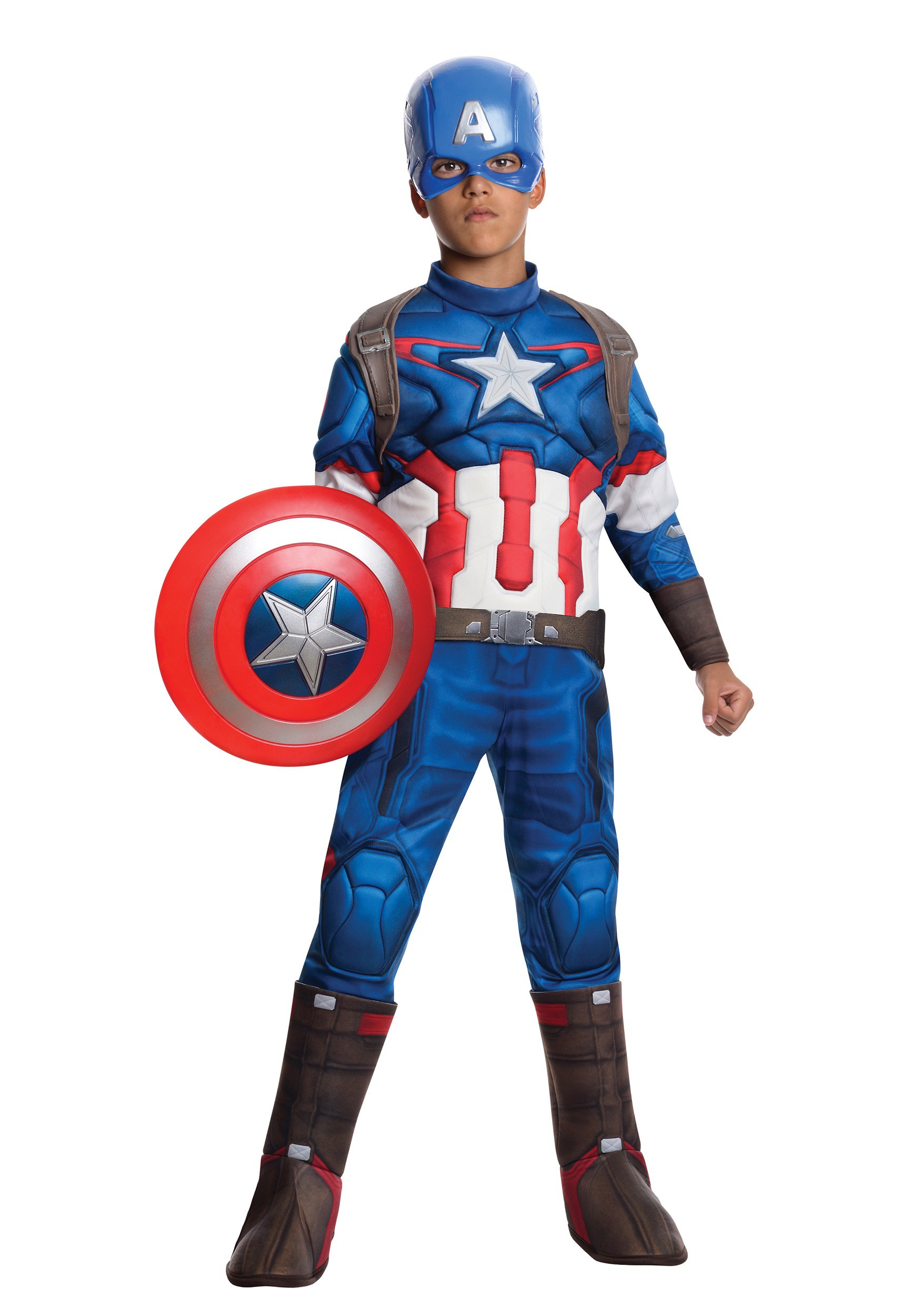 Child Avengers 2 Deluxe Captain America Costume