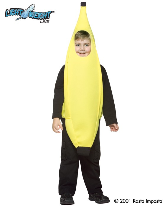 Child Banana Costume - Lightweight 4-6X