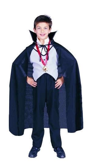 Child Black Dracula Cape