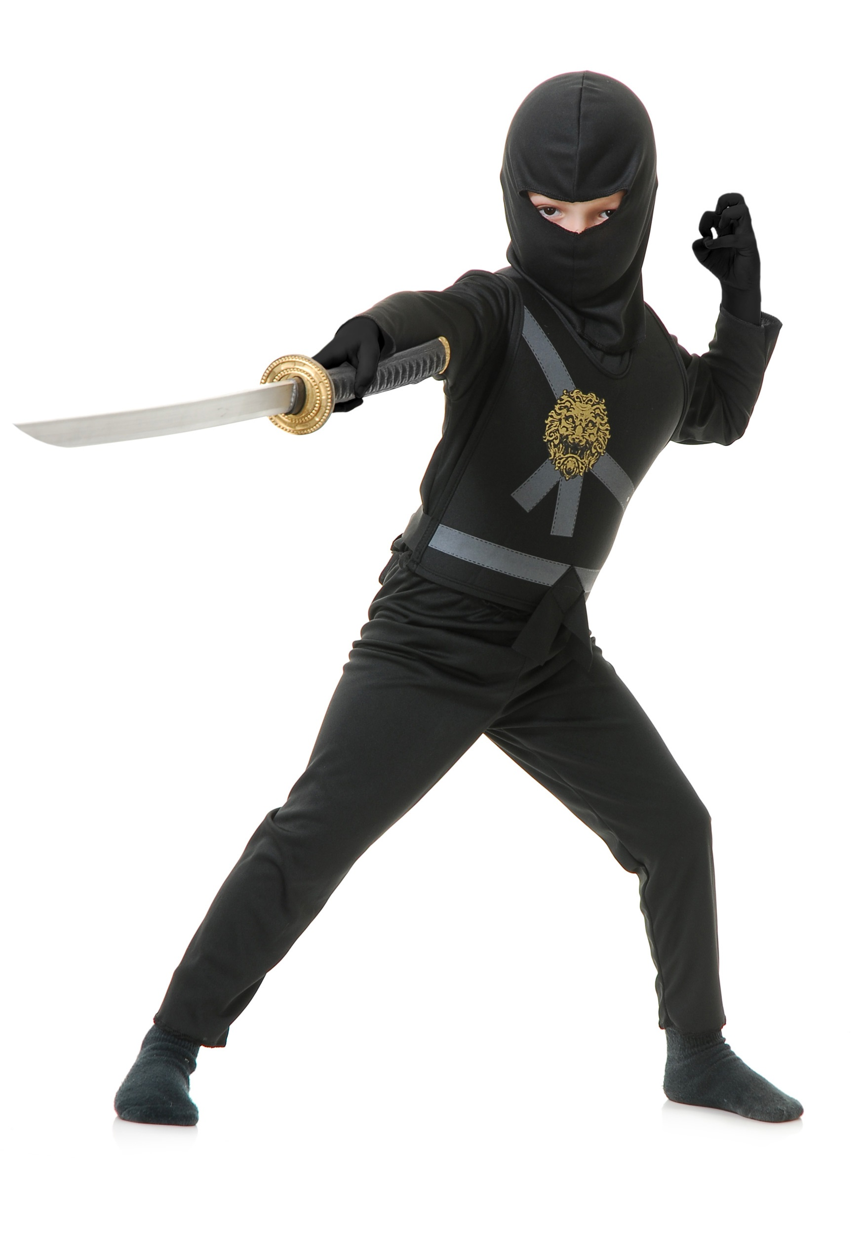 Child Black Ninja Master Costume