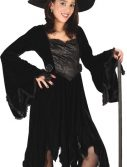 Child Black Velvet Witch Costume