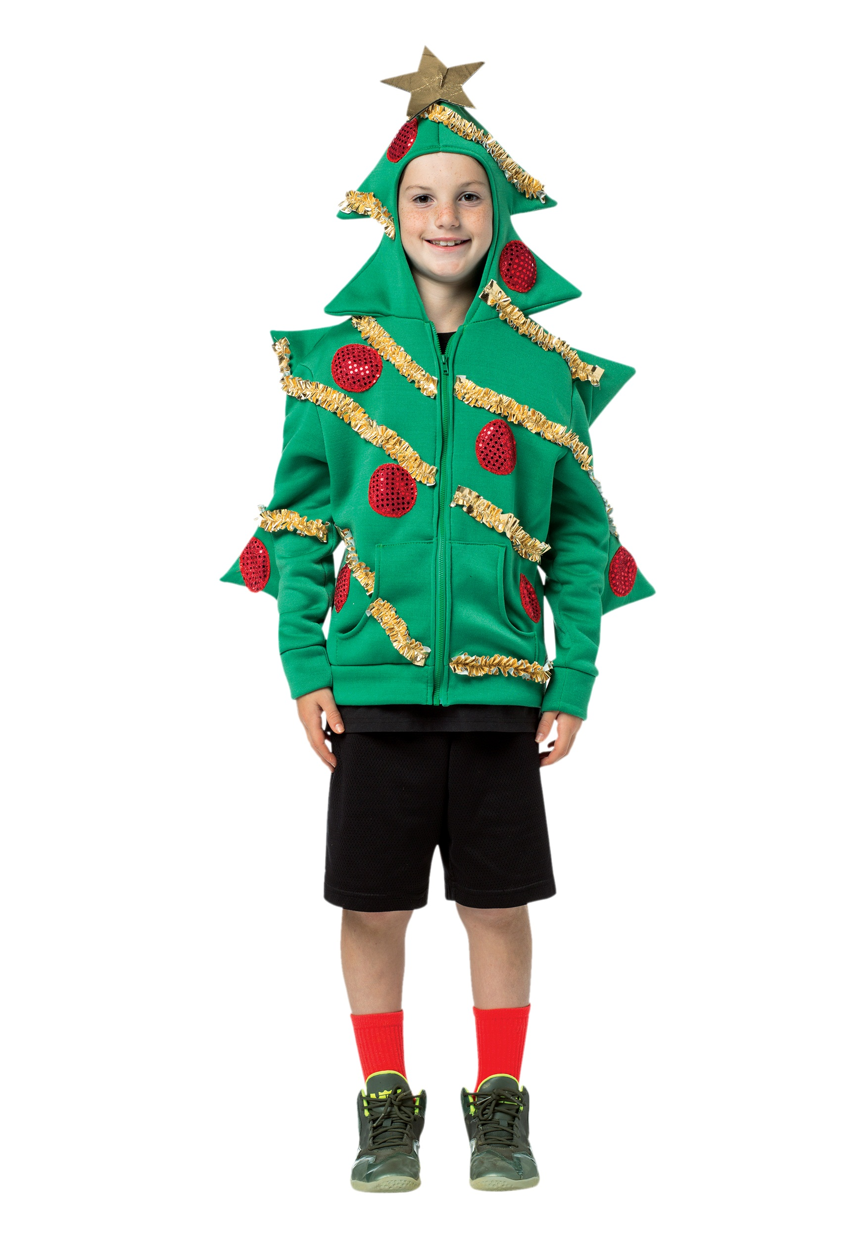 Child Christmas Tree Hooded Sweatshirt