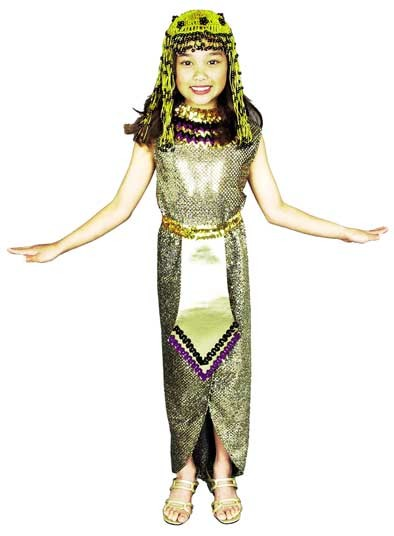 Child Cleopatra Costume with Headpiece
