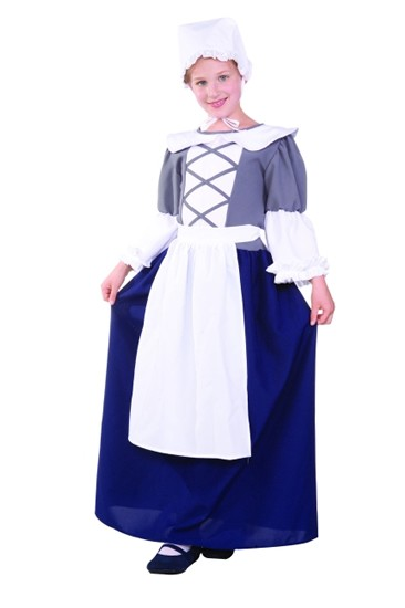 Child Colonial Peasant Girl Costume