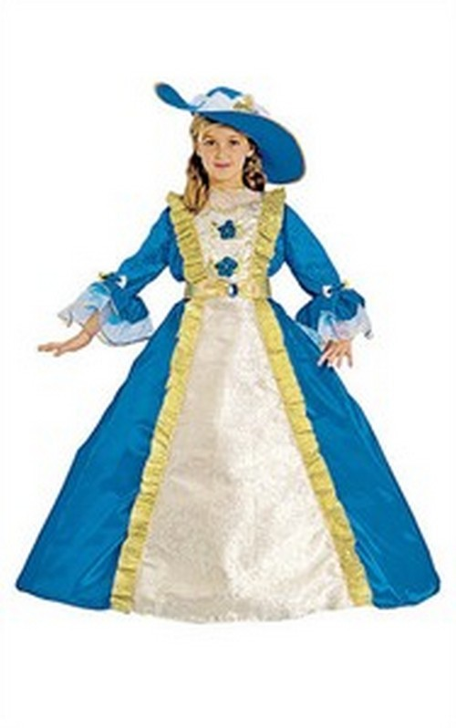 Child Dark Blue Princess Dress Costume