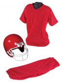 Child Deluxe Football Red Uniform Set