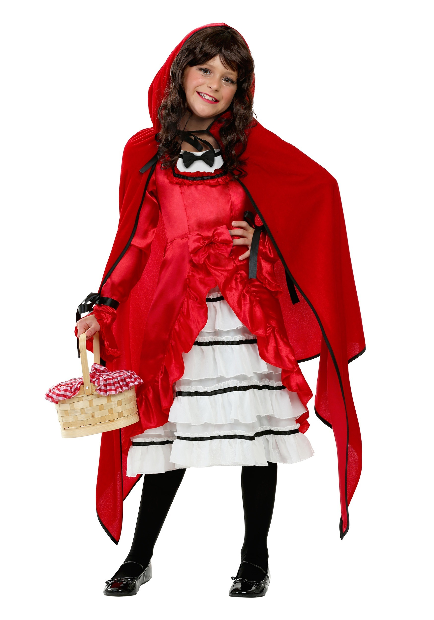 Child Fairytale Red Riding Hood Costume