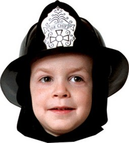 Child Fire Fighter Black Helmet