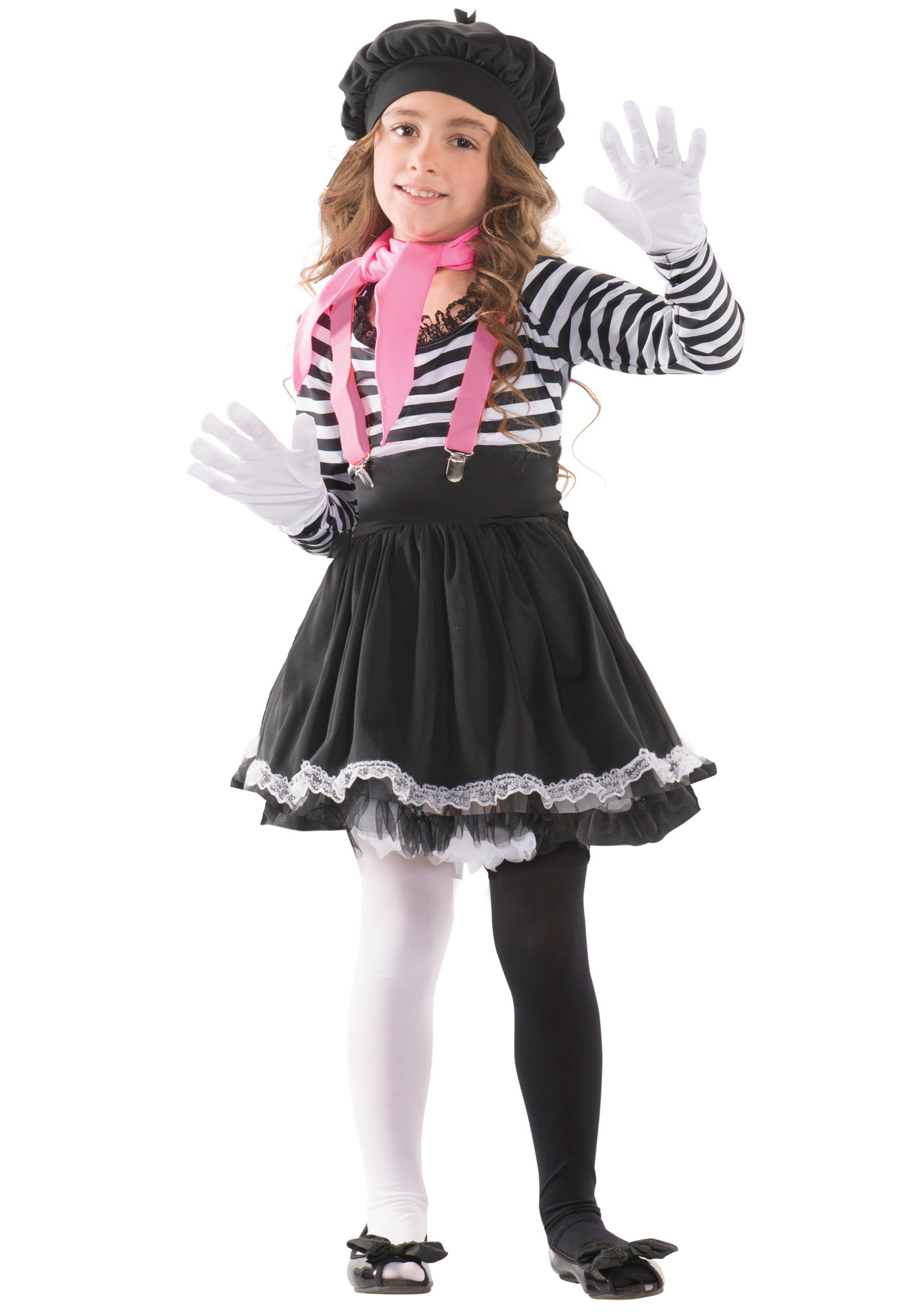 Child Mesmerizing Mime Costume