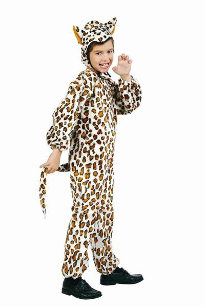 Child Plush Leopard Jumpsuit