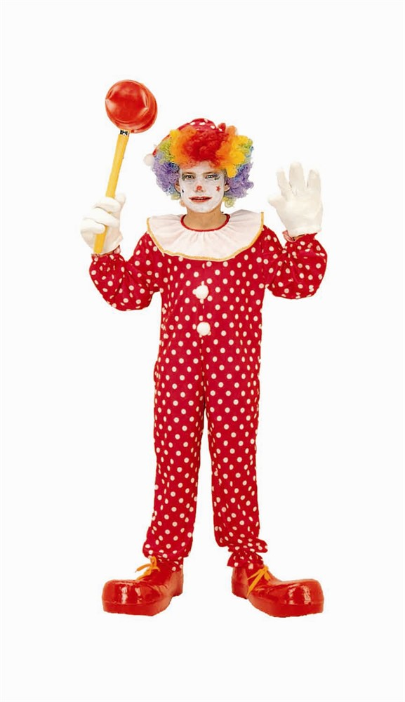 Child Polka Dot Clown Costume