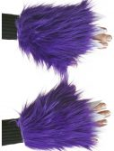 Child Purple Furry Hand Covers
