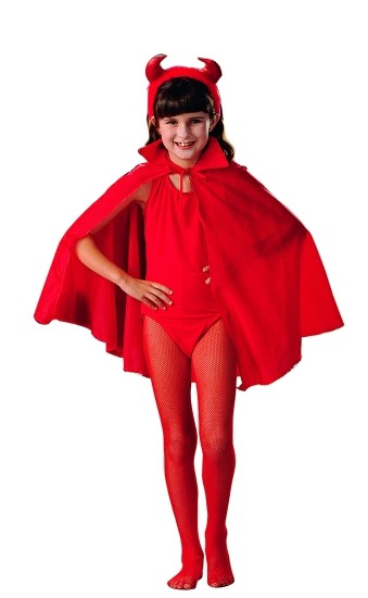 Child Red Devil Cape