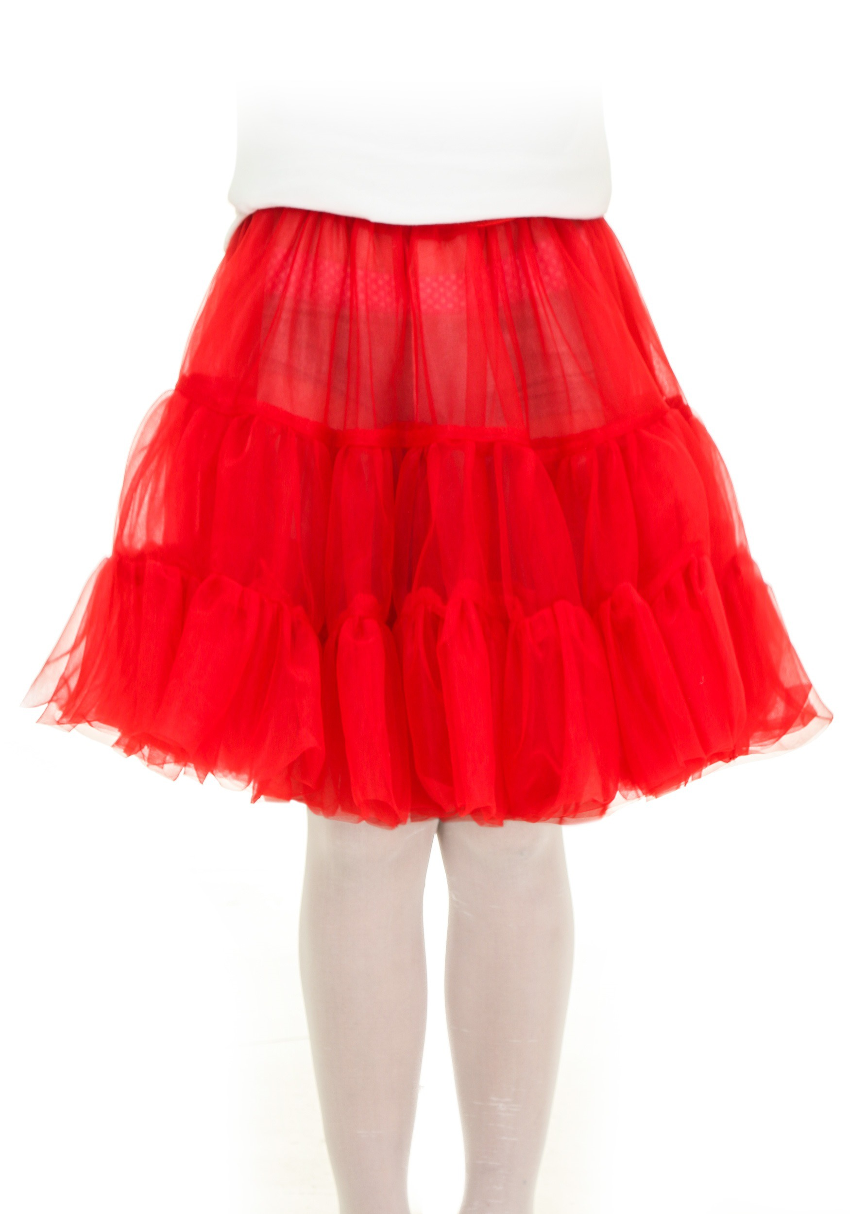 Child Red Knee Length Crinoline
