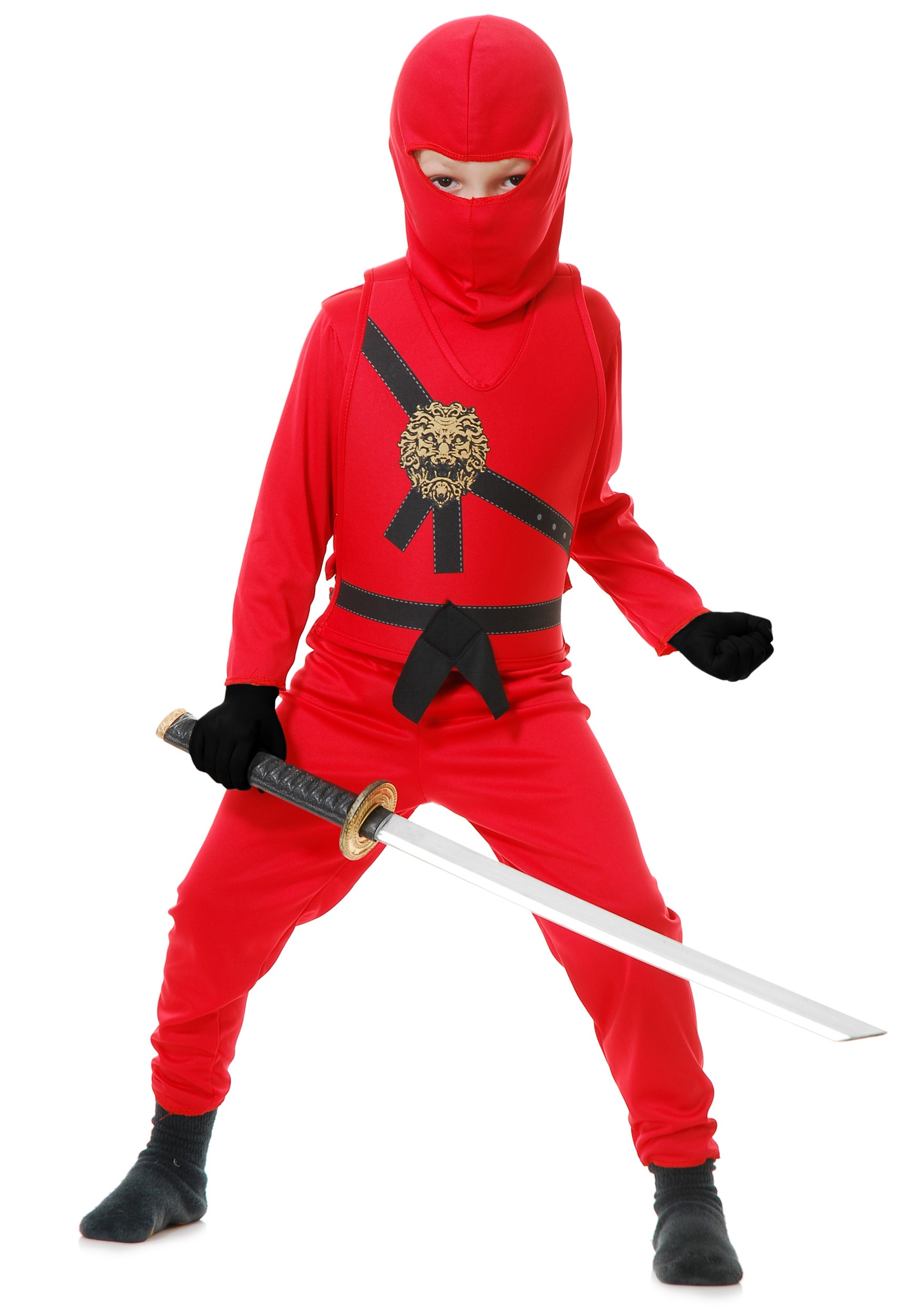 Child Red Ninja Master Costume