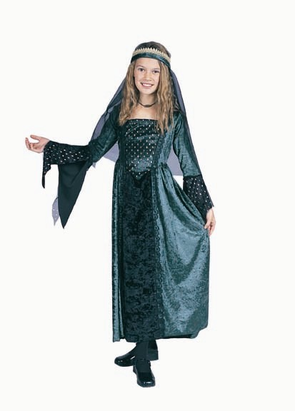 Child Renaissance Girl Costume (green)