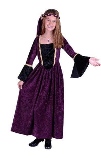 Child Renaissance Girl Costume (purple)