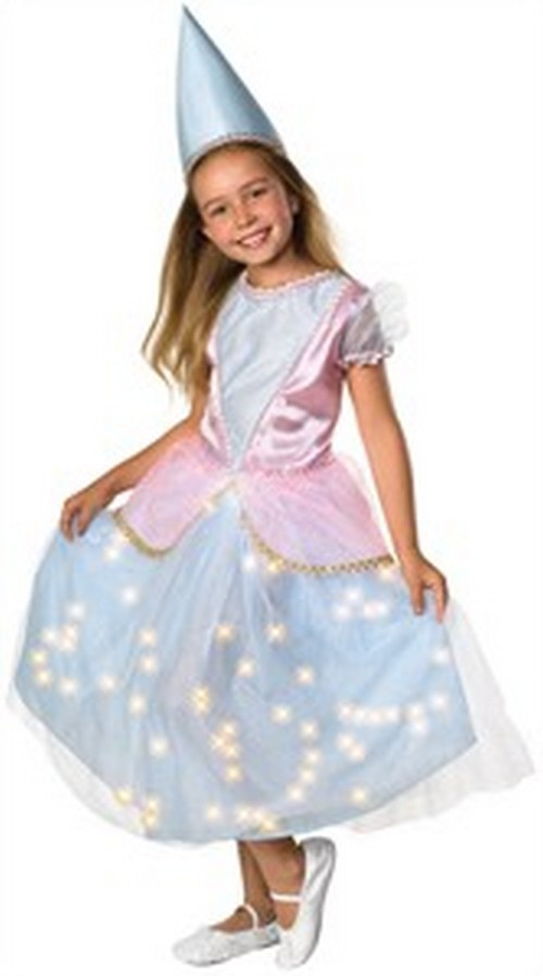 Child Renaissance Queen Costume with Fiber Optic Lights