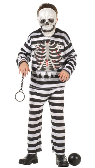 Child Skull Convict Costume