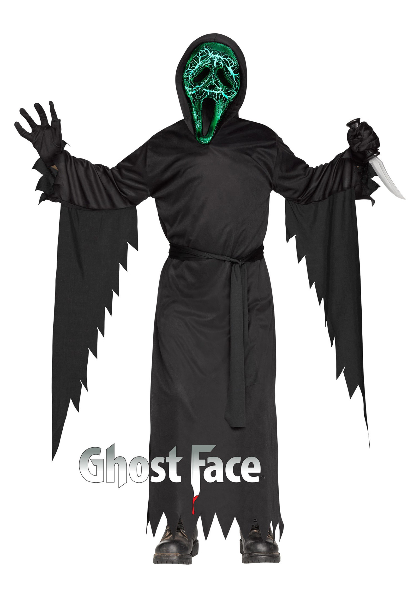 Child Smoldering Ghost Face Costume