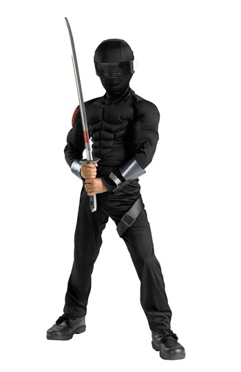 Child Snake Eyes Ninja Muscle Costume