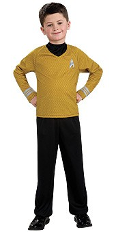 Child Star Trek Yellow Shirt Costume