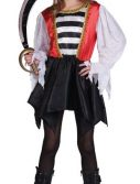 Child Striped Pirate Girl Costume