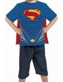 Child Superman Costume - Top & Cape
