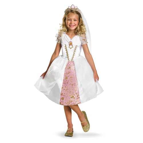 Child Tangled Rapunzel Wedding Gown