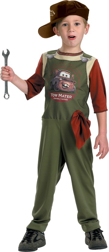 Child Tow Mater Mechanic Costume
