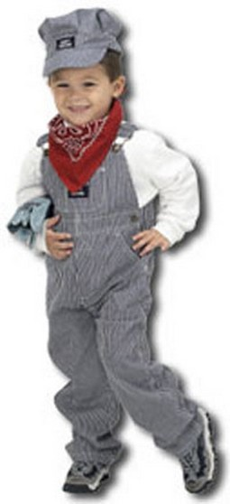 Child Train Engineer Costume with Hat