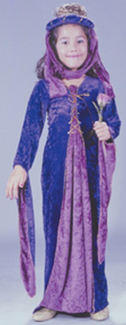 Child Velvet Renaissance Princess Costume