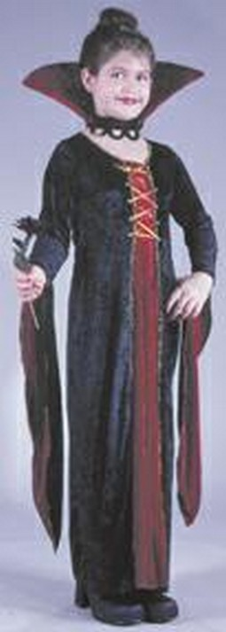 Child Velvet Victorian Vamp Costume