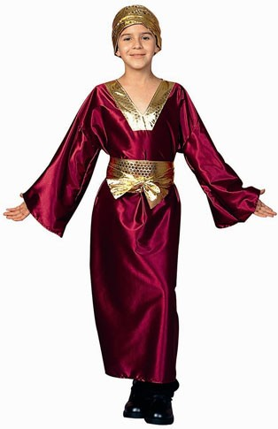 Child Wiseman Costume (wine)